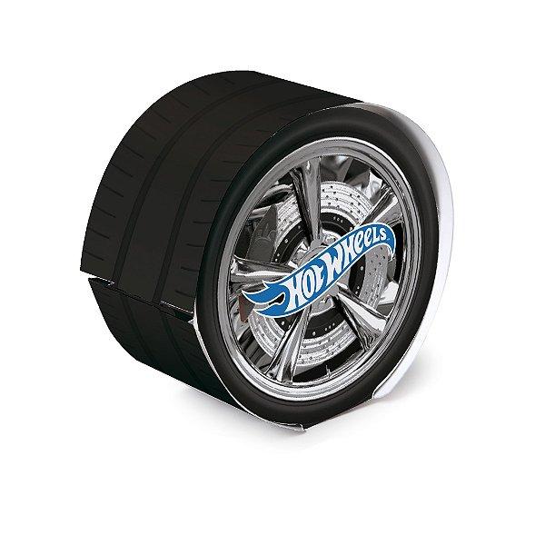 Caixa Pneu para Pão de Mel Festa Hot Wheels - 8 unidades - Cromus - Rizzo Festas