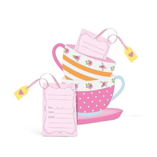 Convite Festa Chá das Meninas - 8 unidades - Cromus - Rizzo Festas