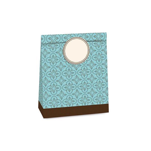 Sacolete de Papel Páscoa Chocolatier Sortido 14x10x5,5cm - 10 unidades - Cromus Páscoa - Rizzo Embalagens