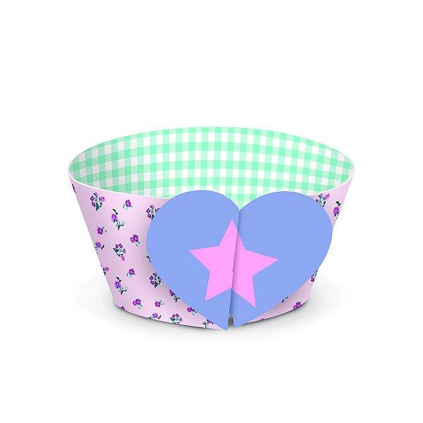 Forminha Wrap para Cupcake Festa dos Sonhos - 12 unidades - Cromus - Rizzo Festas