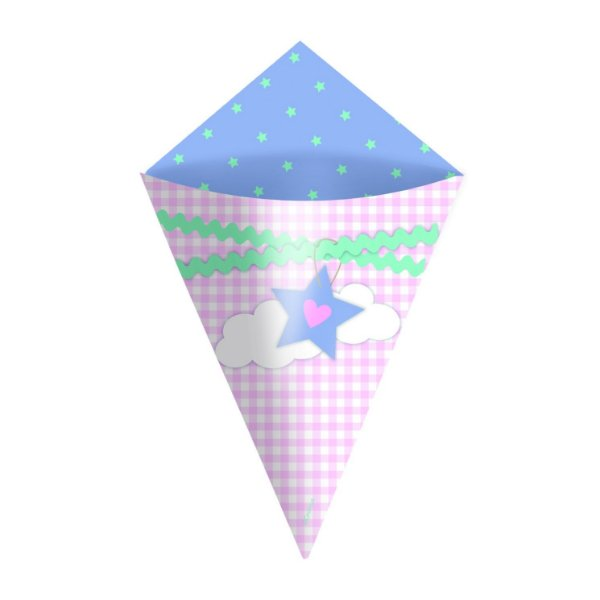 Mini Cone Festa dos Sonhos - 24 unidades - Cromus - Rizzo Festas