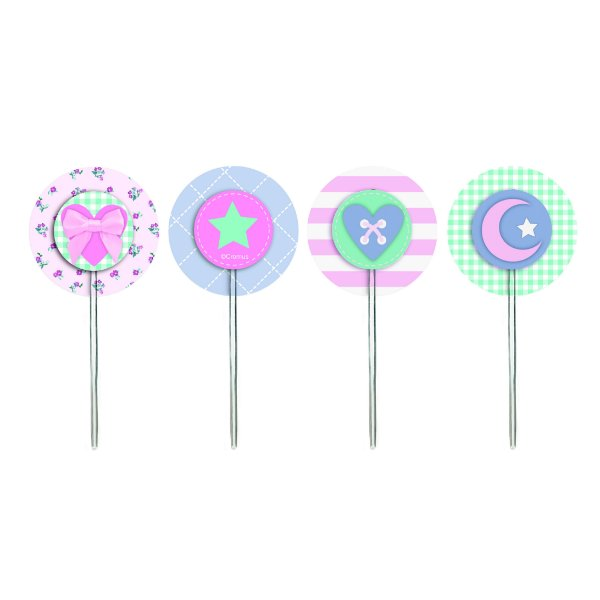 Pick para Cupcake Festa dos Sonhos - 12 unidades - Cromus - Rizzo Festas