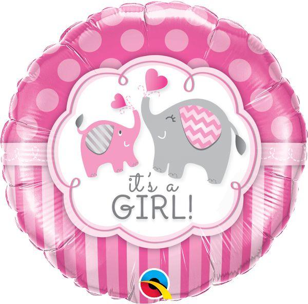 Balão Metalizado It's a Girl - 18'' - Qualatex - Rizzo festas