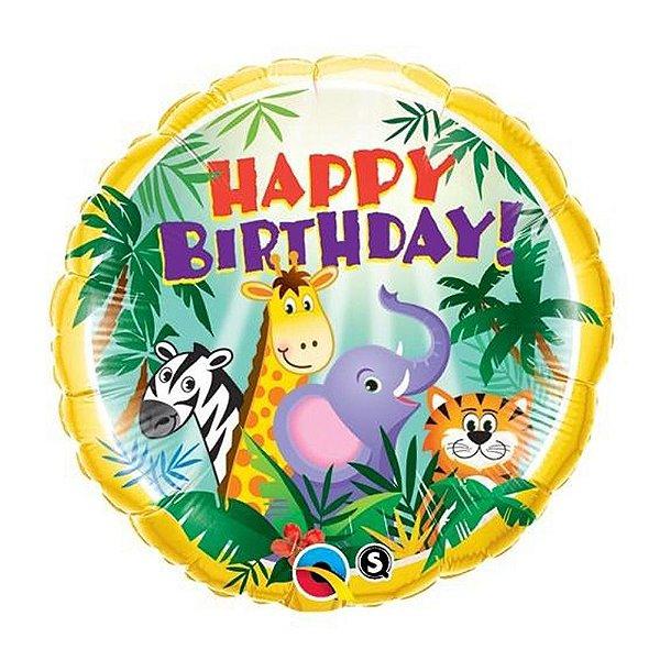 Balão Metalizado Animais Festa Safari - 18'' - Qualatex - Rizzo festas