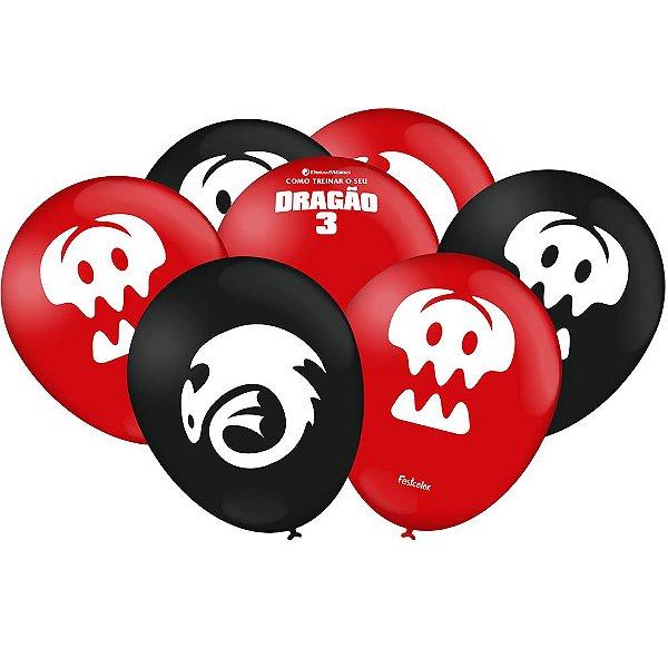 Balão Festa Como Treinar o Seu Dragão - 25 unidades - Festcolor - Rizzo Festas