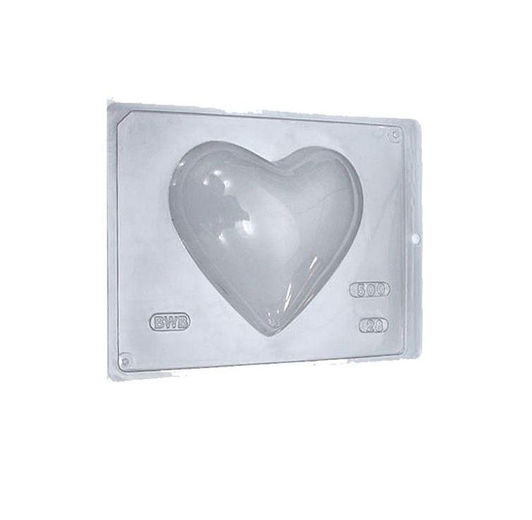 Forma de Acetato Coração Liso Ref 28 BWB Rizzo Embalagens