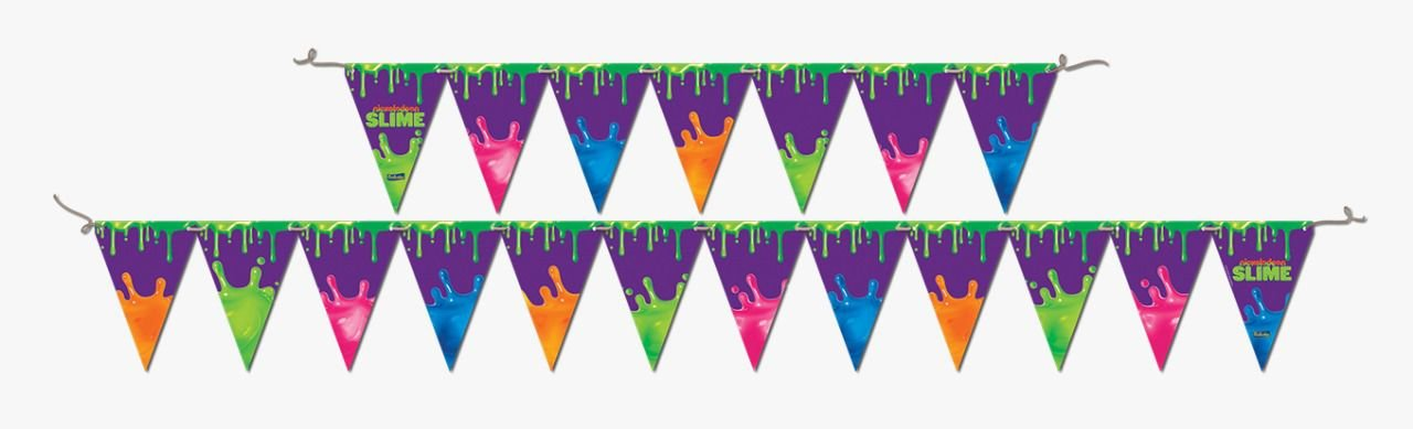 Faixa Decorativa Festa Slime - Festcolor - Rizzo Festas