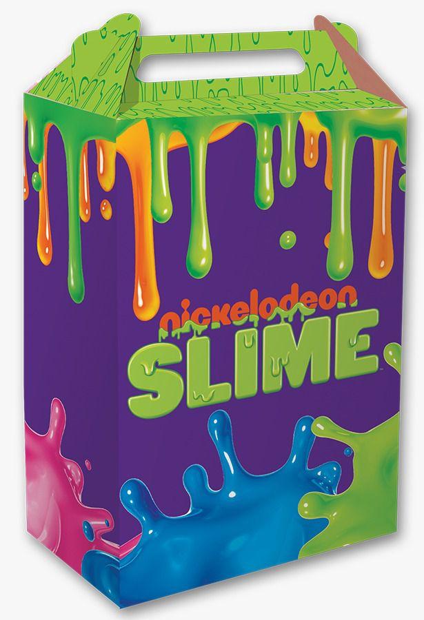 Caixa Surpresa Festa Slime - 8 unidades - Festcolor - Rizzo Festas
