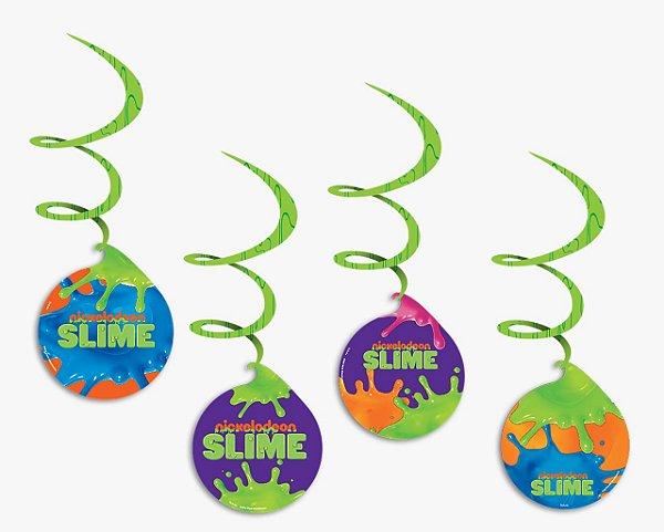Móbile Decorativo Festa Slime - 4 unidades - Festcolor - Rizzo Festas