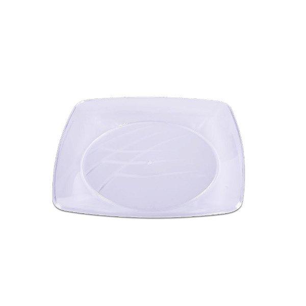 Prato Quadrado Cristal Médio - 10 unidades - Prafesta - Rizzo Embalagens