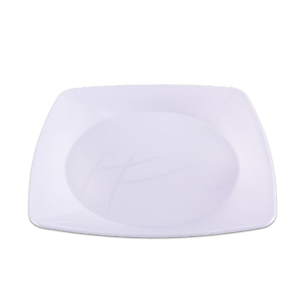 Prato Quadrado Branco Grande - 10 unidades - Prafesta - Rizzo Embalagens