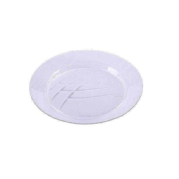 Prato Redondo Cristal Médio - 10 unidades - Prafesta - Rizzo Embalagens