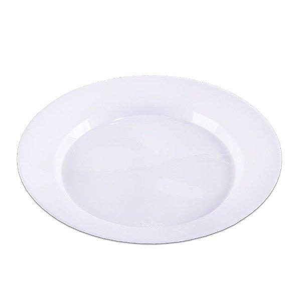 Prato Redondo Branco Grande - 10 unidades - Prafesta - Rizzo Embalagens