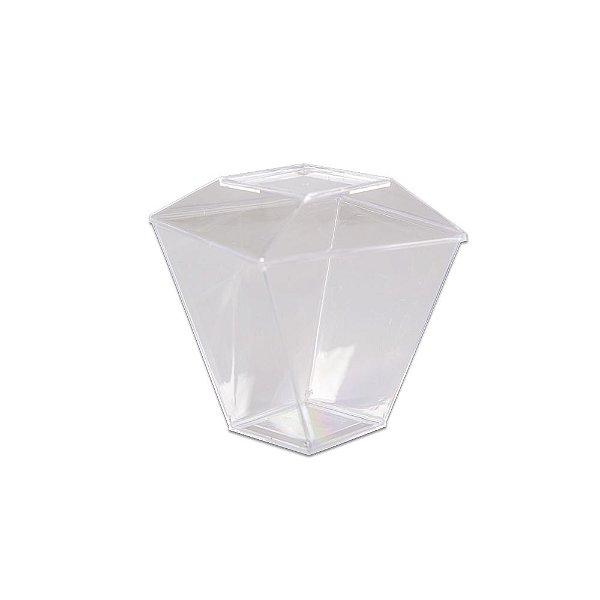 Copo Quadratto com Tampa 150ml Cristal - 10 unidades - Prafesta - Rizzo Embalagens
