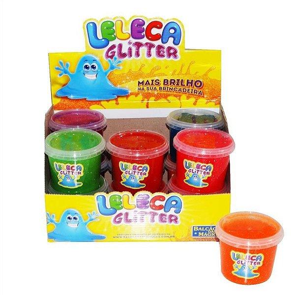 Slime Glitter Lembrancinha Festa Slime Pote de 200g Caixa com 12 unidades Sortidas - Rizzo Festas