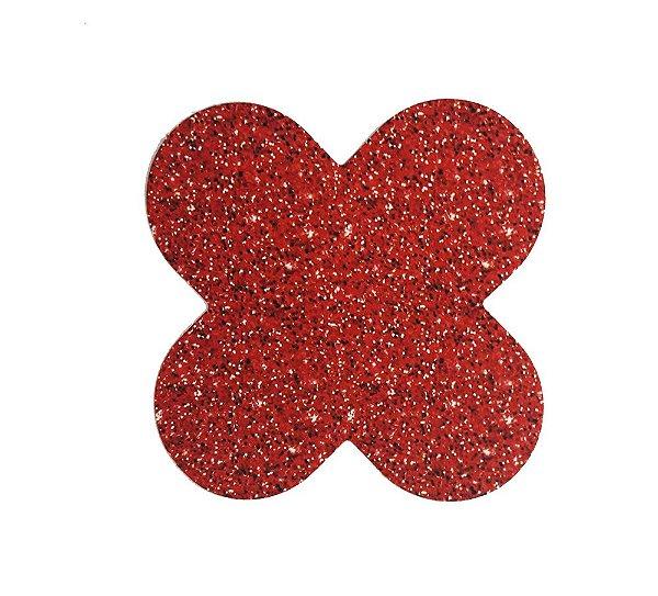 Forminha para doces 4 Pétalas Glitter Vermelho - 50 unidades -  NC Toys Rizzo Festas