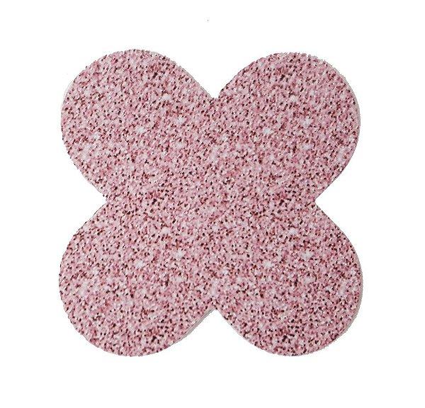 Forminha para doces 4 Pétalas Glitter Rosa - 50 unidades -  NC Toys