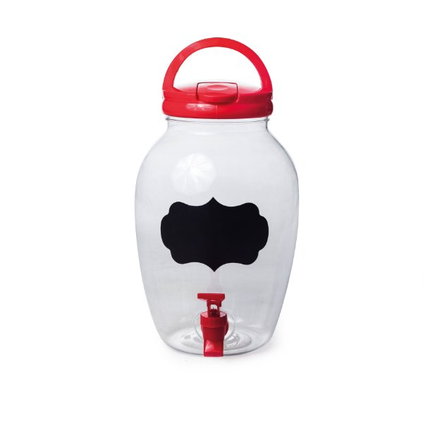 Suqueira de Plástico Vermelho 4400ml - 17,5 x 27,5 - 1 Unidade - Rizzo Embalagens