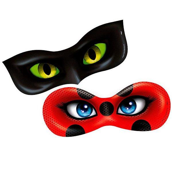 Máscara Festa Miraculous - 6 unidades - Regina - Rizzo Festas