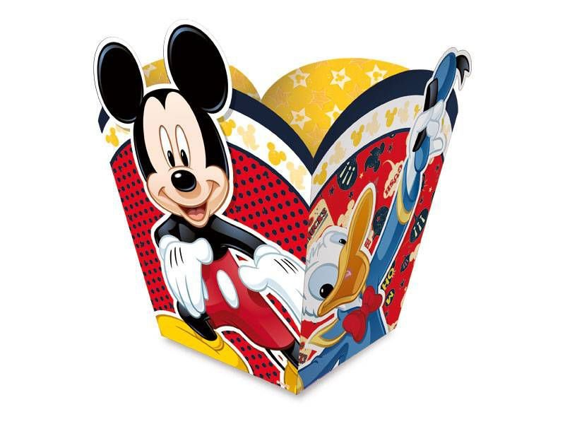 Cachepot M Festa Mickey - 8 unidades - Regina - Rizzo Festas