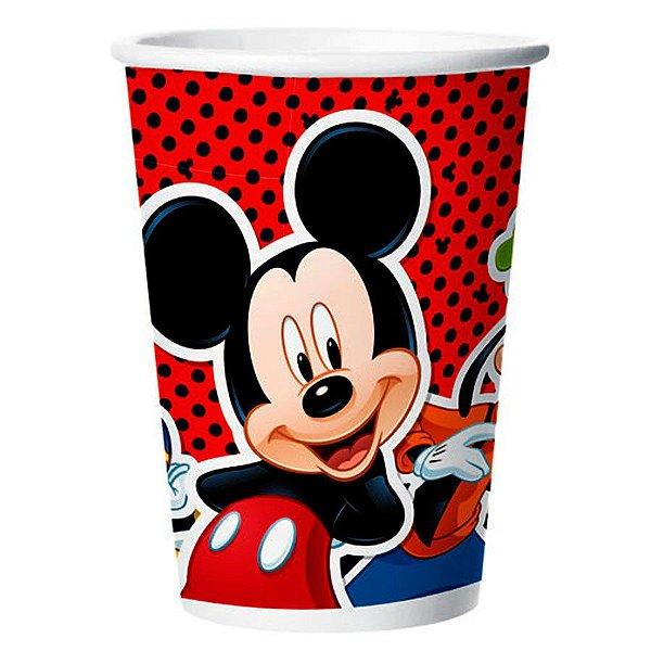Copo de Papel Festa Mickey 180ml - 8 unidades - Regina - Rizzo Festas