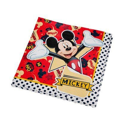 Guardanapo Festa Mickey - 25cm - 16 unidades - Regina - Rizzo Festas