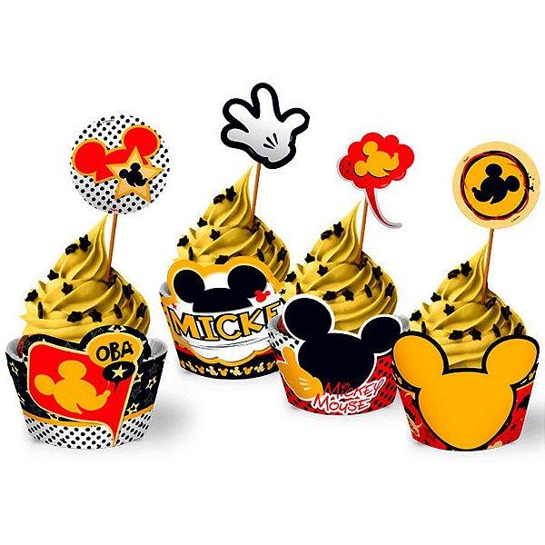 Forminha Wrap para Cupcake Festa Mickey - 12 unidades - Regina - Rizzo Festas