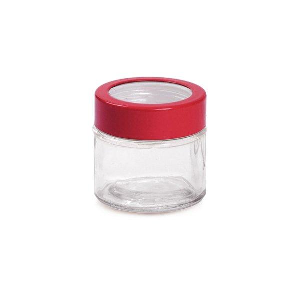 Potinho de Vidro 90ml com Tampa Vermelha - 6 x 6 x 6 - Cromus - Rizzo Embalagens