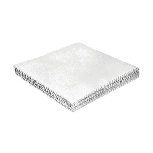 Guardanapo Liso Branco - 24cm - 20 unidades - Silver Festas - Rizzo Festas