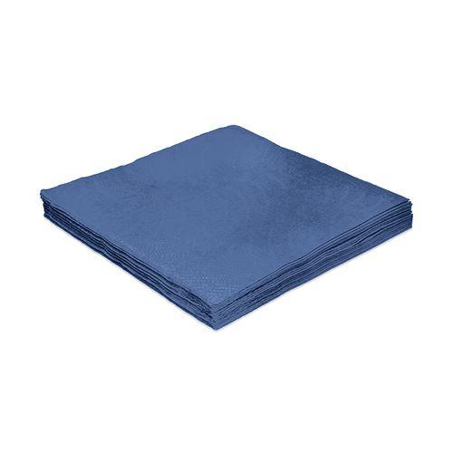 Guardanapo Liso Azul Marinho - 24cm - 20 unidades - Silver Festas - Rizzo Festas