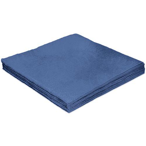 Guardanapo Liso Azul Marinho - 32cm - 20 unidades - Silver Festas - Rizzo Festas