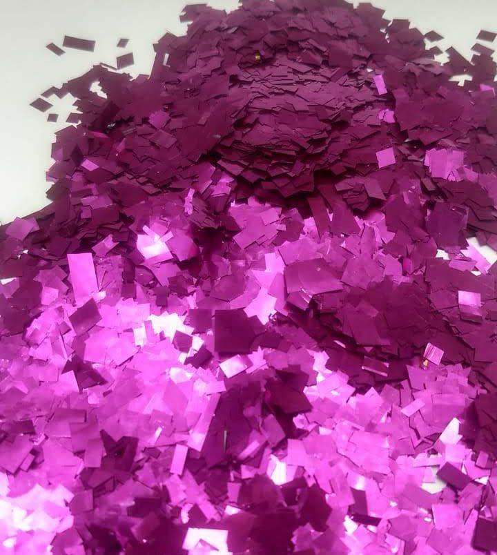 Confete Pink Metalizado Quadrado para Balão - 1cm x 1cm - Estilo e Festas Rizzo Festas