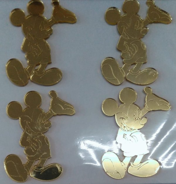 Aplique Festa Mickey de Pé 5cm - 4 Unidades - Vivart Rizzo Festas