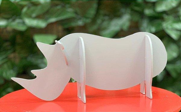 Enfeite de Mesa Rinoceronte Festa Safari - 1 Unidade - Rizzo Festas