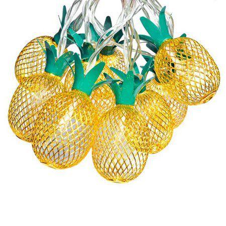 Cordão de led Abacaxi Amarelo 2 Metros - 1 Unidade - Global Rizzo Festas