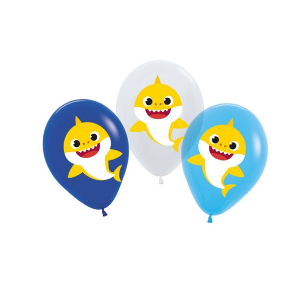 Balão Sortido Festa Baby Shark - 12 unidades - Cromus - Rizzo Festas