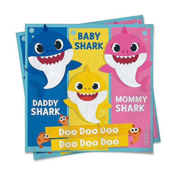 Guardanapo Festa Baby Shark - 20 Unidades - Cromus - Rizzo Festas
