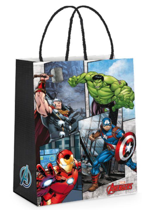Sacola de Papel Festa Avengers Vingadores P 21,5X15X8cm - 10 unidades - Cromus - Rizzo Festas