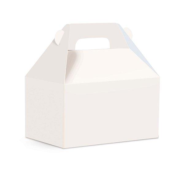 Caixa Maleta Kids P 9x6x9cm Branco Liso - 10 unidades - Cromus - Rizzo Embalagens