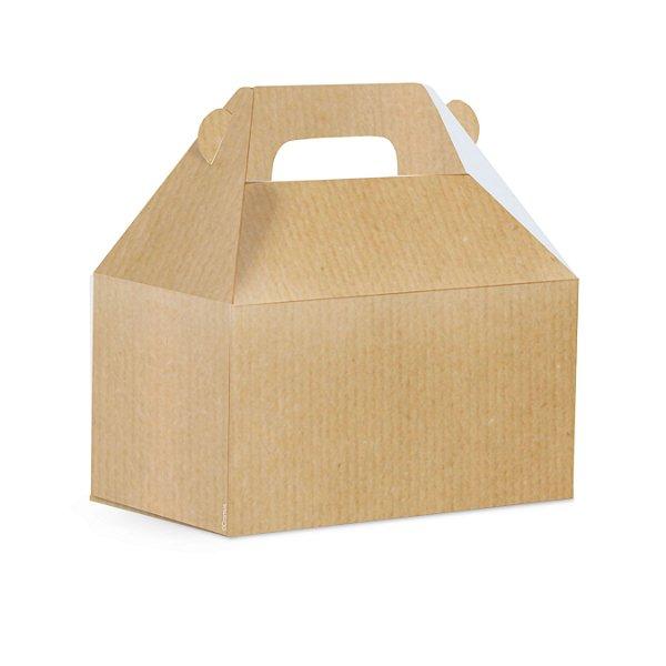 Caixa Maleta Kids G 15x10x15cm Kraf Liso - 10 unidades - Cromus - Rizzo Embalagens