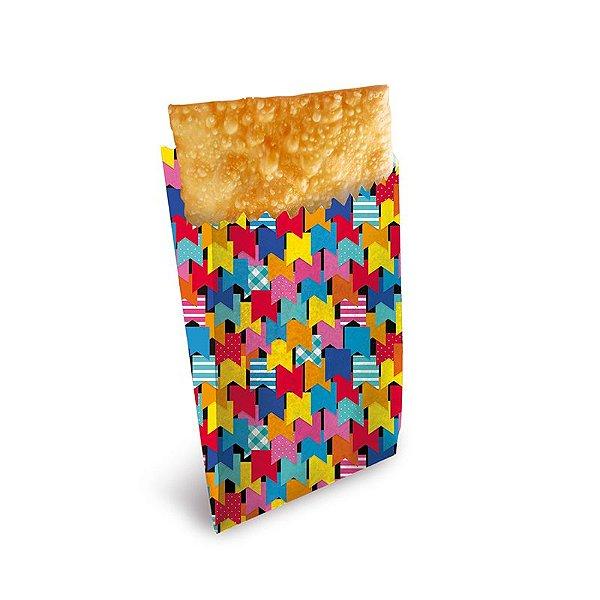 Saquinho para Pastel Bandeirinhas 20x13,5x4,5cm Festa Junina - 50 unidades - Cromus - Rizzo Festas
