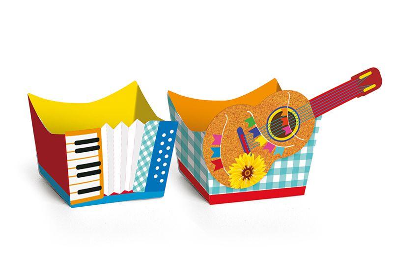 Forminha Instrumentos Festa Junina - 24 unidades - Cromus - Rizzo Festas