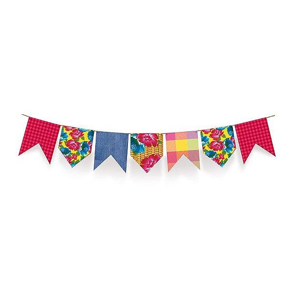 Varal de Bandeirinhas Arraial Festa Junina - 01 unidade - Cromus - Rizzo Festas