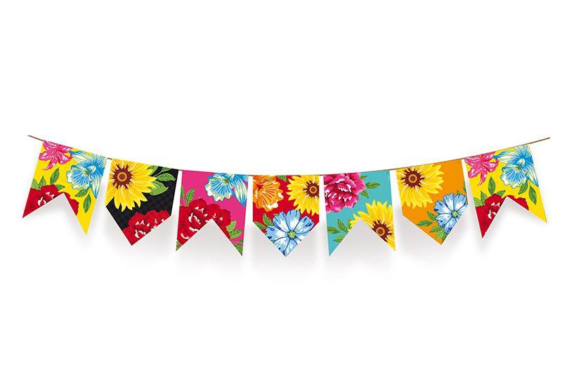 Varal de Bandeirinhas Quadrilha Festa Junina - 01 unidade - Cromus - Rizzo Festas