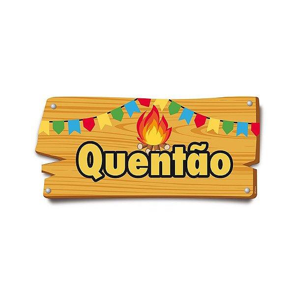 Placa de Sinalização Quentão Festa Junina - 01 unidade - Cromus - Rizzo Festas