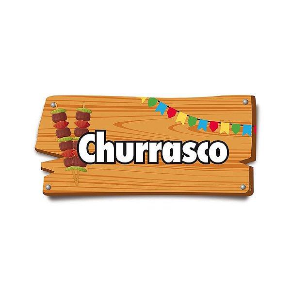 Placa de Sinalização Churrasco Festa Junina - 01 unidade - Cromus - Rizzo Festas