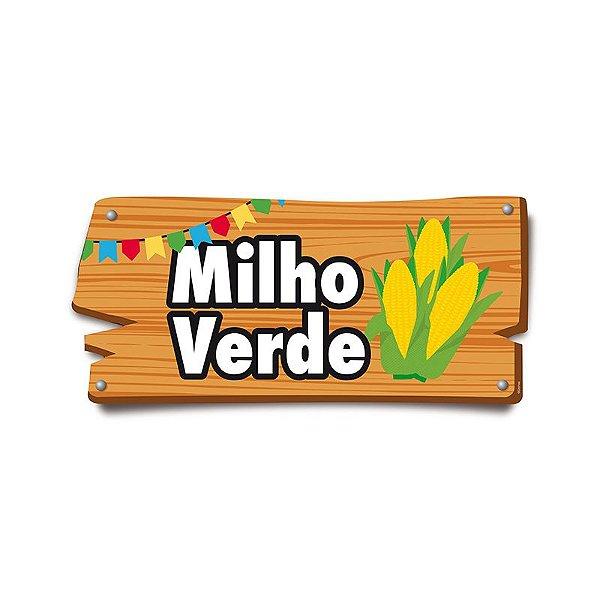 Placa de Sinalização Milho Verde Festa Junina - 01 unidade - Cromus - Rizzo Festas