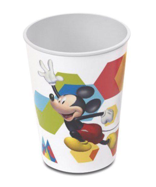 Copo de Plástico Festa Mickey 320ml - 1 unidade - Plasútil - Rizzo Festas