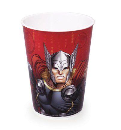 Copo de Plástico Thor Avengers 320ml - 1 unidade - Plasútil - Rizzo Festas