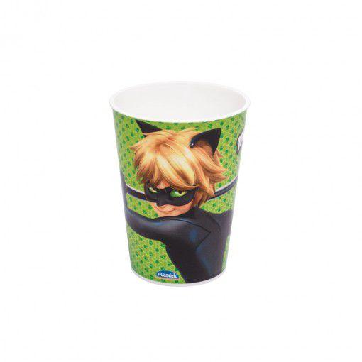 Copo de Plástico Cat Noir Festa Miraculous 320ml - 1 unidade - Plasútil - Rizzo Festas